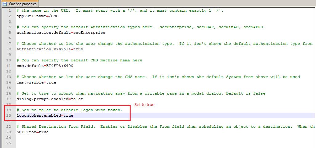 Edit cmc.properties file