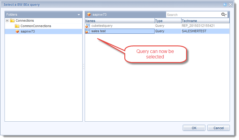 query selectable