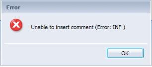 comment error